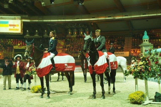 Rivetti Cassio (UKR) mit Rosa und Gebath Thomas (AUT) mit Horseshop's Cindarella