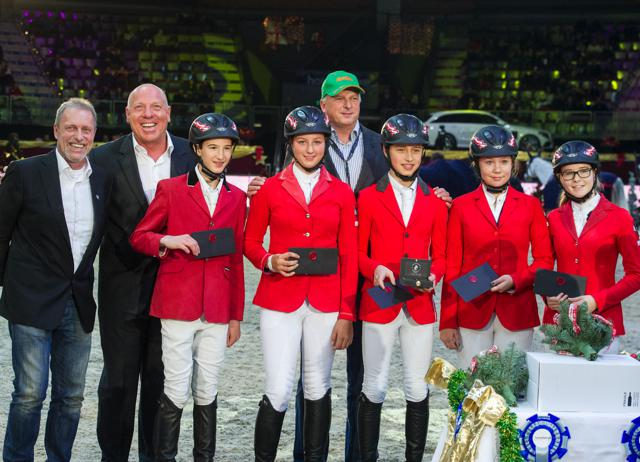 Die österreichischen Gold Children wurden heute bei den Mevisto Amadeus Horse indoors gebührend gefeiert © Nini Schäbel