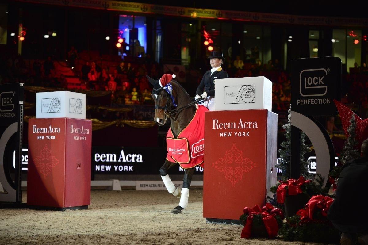 So sehen Sieger aus! Isabell Werth (GER) und Don Johnson FRH. © GHPC / studiohorst