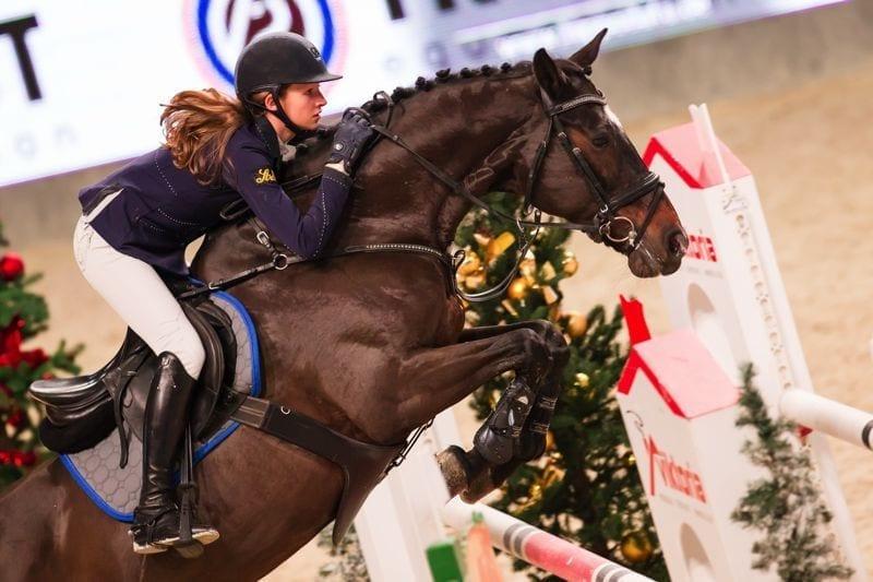 Auf dem Weg zum Horsedeluxe Small Amateur Tour Final: Marie Christine Sebesta (AUT/W) und Olala. © Michael Graf