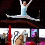 Die Weltcupsiegerin von 2015 und Nummer drei der Welt, Anna Cavallaro (ITA), ist die Voltigier Weltcup Siegerin der Mevisto Amadeus Horse Indoors 2016. © Andrea Fuchshumer
