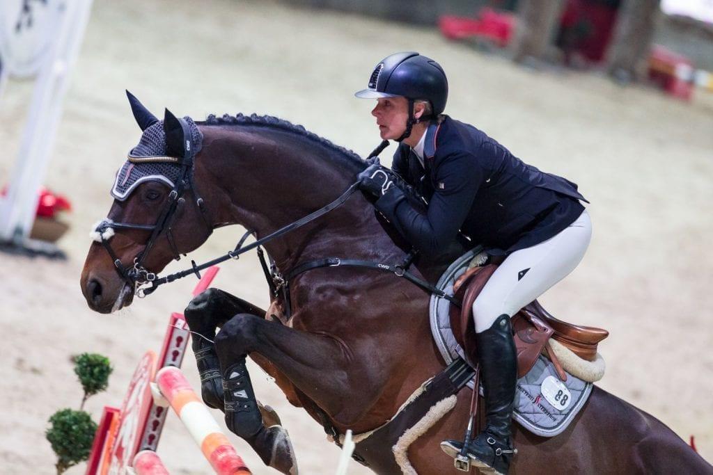 Julia Kayser sprang für Österreich auf Platz drei im s.Oliver Championat der Mevisto Amadeus Horse Indoors 2016. © Michael Graf