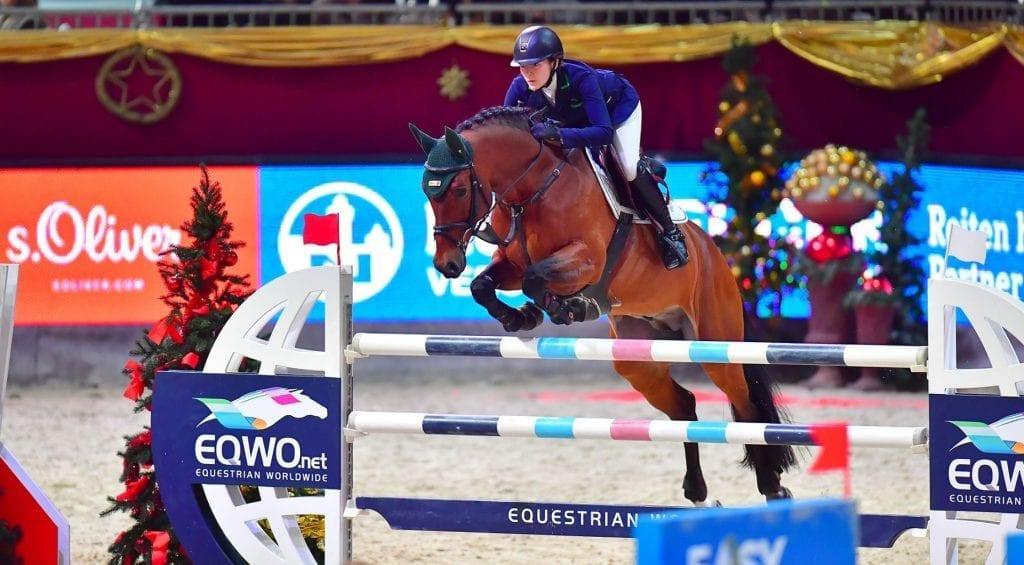 Pia Reich (GER) und Quiwi Dream blieben heute im EY Cup U25 Weltfinale als einzige fehlerfrei. © im|press|ions – Daniel Kaiser