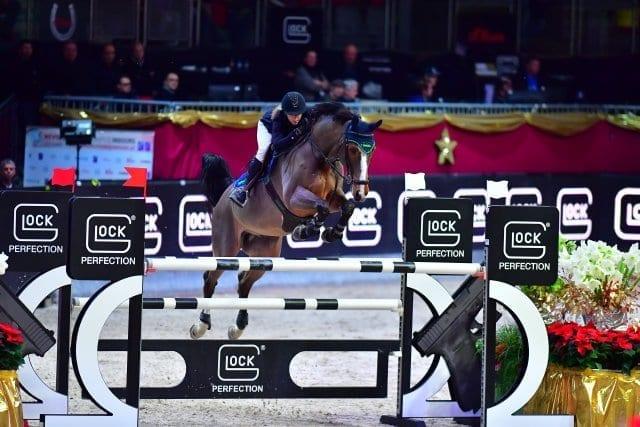 Annina Züger (SUI) sorgte auf Louis mit dem zweiten Platz im CSI4* Gaston Glock's Grand Prix Salzburg für eine Überraschung. © im|press|ions - Daniel Kaiser