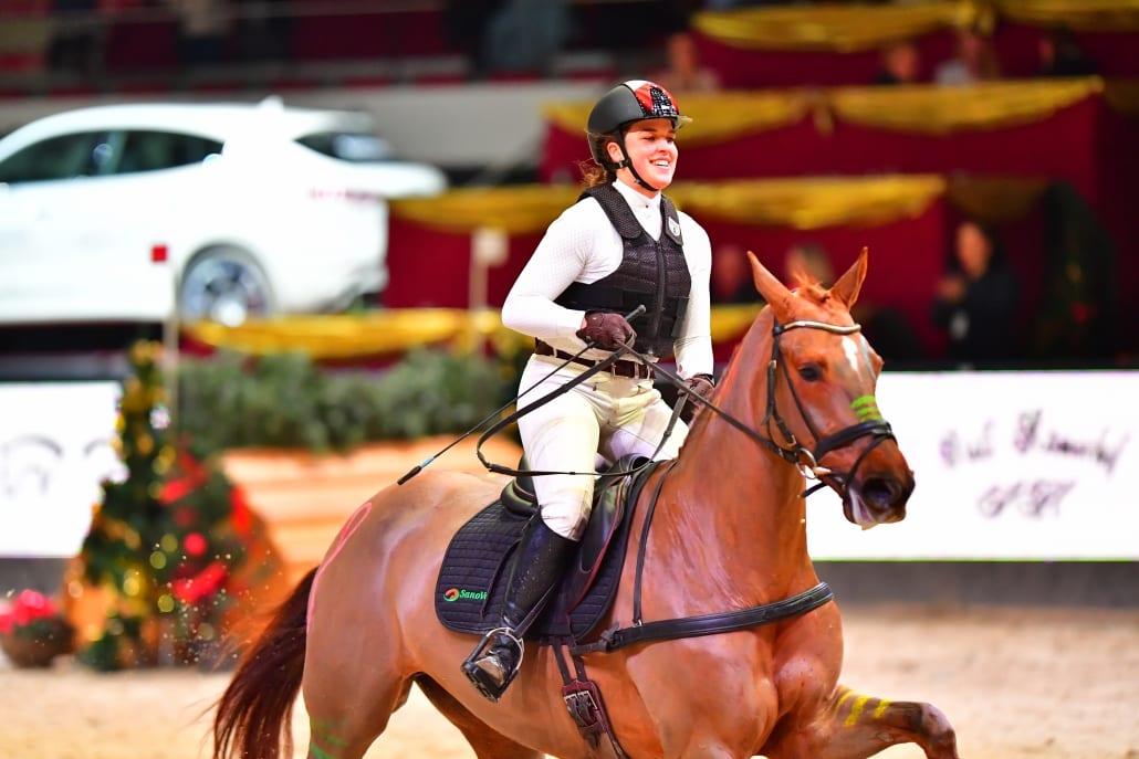 Im Amadeus Cup 2017 war die sympathische Niederösterreicherin Charlotte Dobretsberger mit ihrem Erfolgspferd Vally K eine Klasse für sich. © Daniel Kaiser