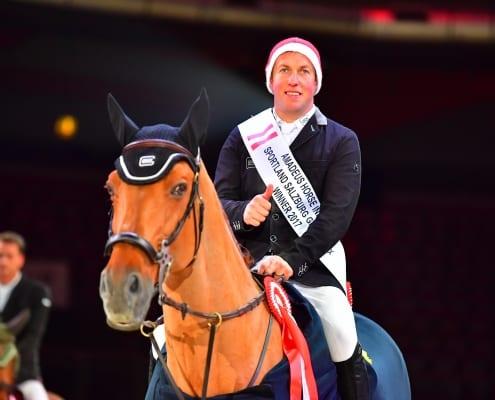 Gerco Schröder und GLOCK's London sind die Tielverteidiger im CSI4* Grand Prix of Salzburg bei der Amadeus Horse Indoors. © Im|press|ions – Daniel Kaiser