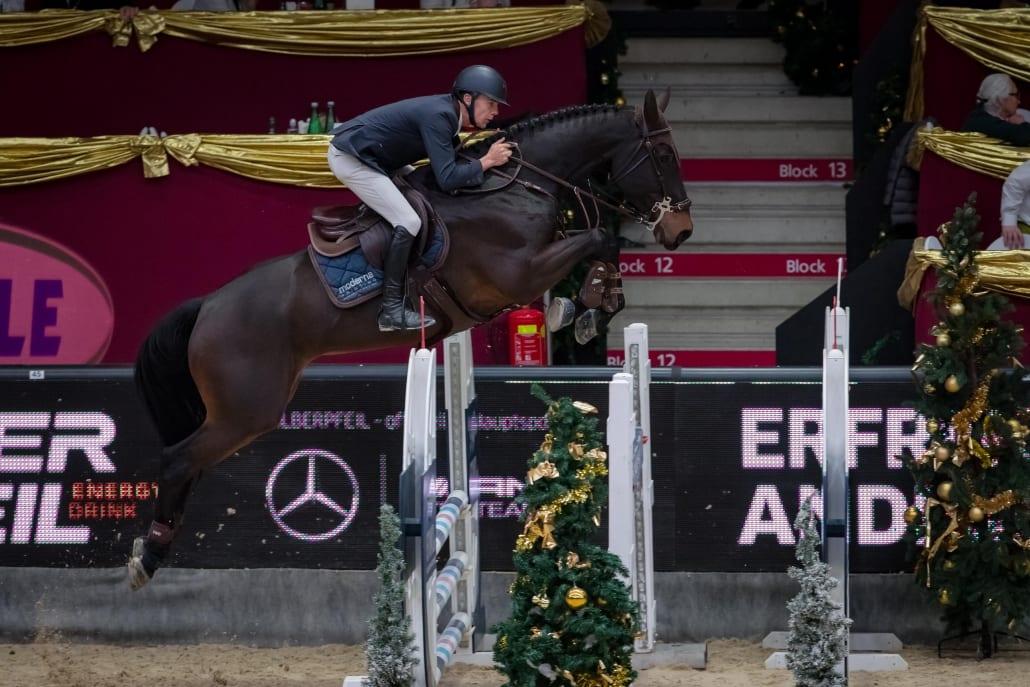 Wilm Vermeir (BEL) und Iq van het Steentje auf dem Weg zu Platz 2 im Sportland Salzburg Grand Prix presented by MUKI 2018. © Michael Graf