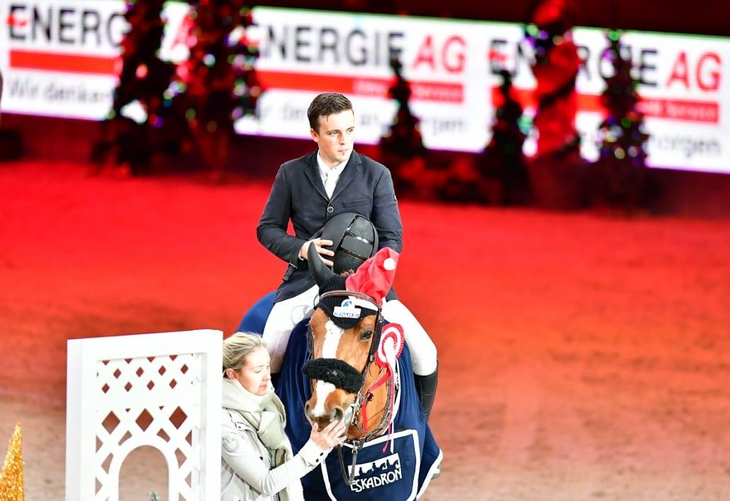 Sieger der CSI4* Energie AG Challenge: Jake Hunter aus Australien. © Daniel Kaiser