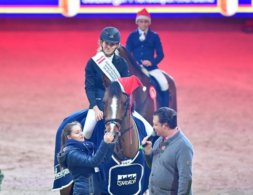 Marie Kabler durfte sich über den SPS Small Amateur Tour Finalsieg bei der Amadeus Horse Indoors 2018 freuen. © Daniel Kaiser