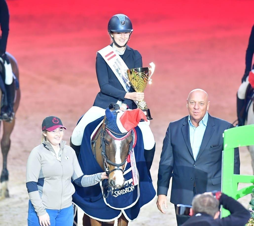 Klara Goess-Saurau dominierte die SPS Medium Amateur Tour bei der Amadeus Horse Indoors 2018. © Daniel Kaiser