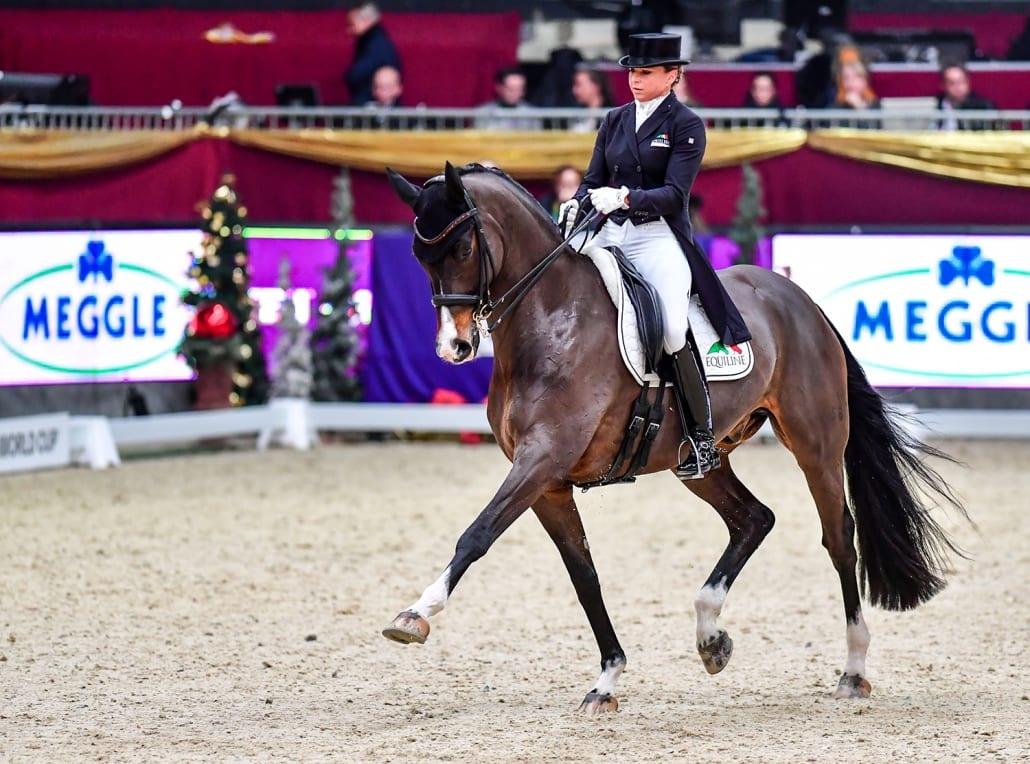 Dorothee Schneider (GER) und Faustus wurden Dritte im Weltcup vonSalzburg. © Daniel Kaiser