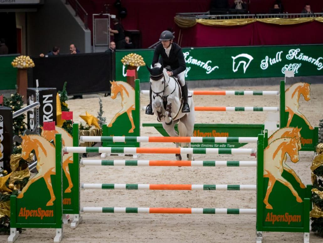 Bester Österreicher im Stall Römerhof Championat war Stefan Eder mit EM-Pferd Dr. Scarpo auf Platz 6. © Michael Graf