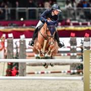 Alexa Stais (RSA) und Quintato auf dem Weg zum Sieg in der Murhof Gruppe Trophy bei der Amadeus Horse Indoors. © Daniel Kaiser
