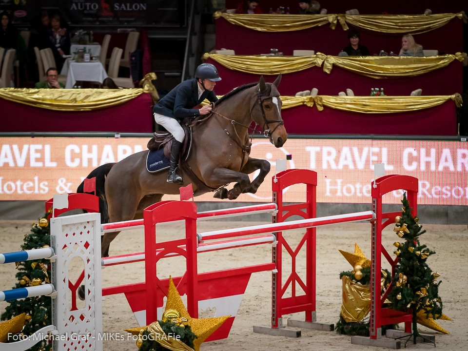 Wilm Vermeir (BEL) und Dm Jacqmotte wurden hervorragende Zweite im Travel Charme Grand Prix bei der 14. Amadeus Horse Indoors. © Daniel Kaiser