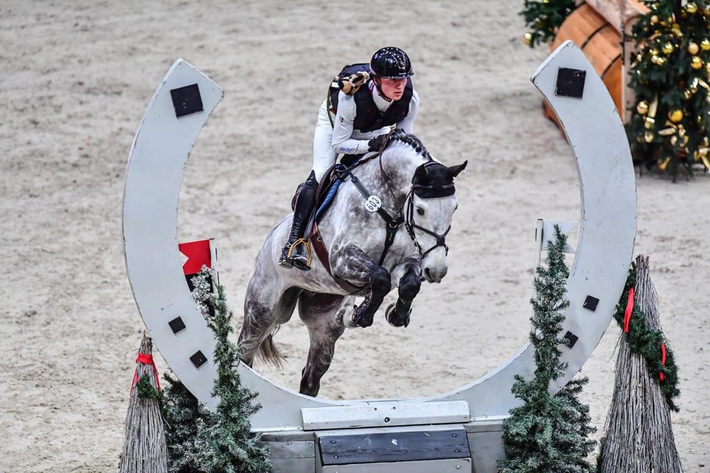 Calvin Böckmann (GER) und Crunchip M gewinnen das Auto Pichler Indoor Derby bei der Amadeus Horse Indoors 2019. © Daniel Kaiser