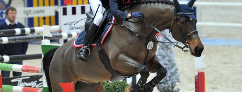 2012 war Simone Blum in Salzburg im EY Cup am Start. © Amadeus Horse Indoors/Nini Schäbel