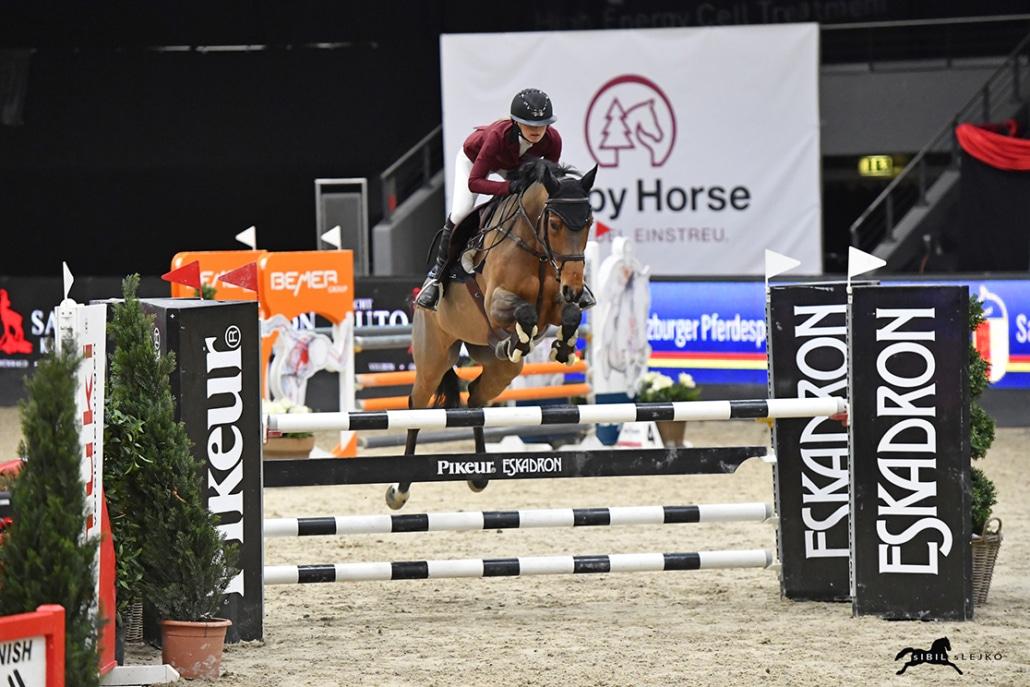 Karin Brötzner und Gianna wurden Dritte im SPS Medium Finale. © Sibil Slejko