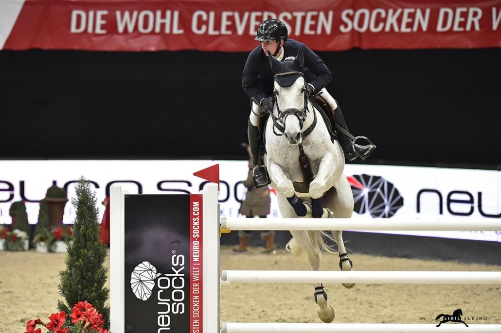 Die nächste Top-Platzierung für Felix Haßmann (GER) ins Salzburg: Rang drei mit Cayenne Wz im Neuro Socks Masters. © Sibil Slejko