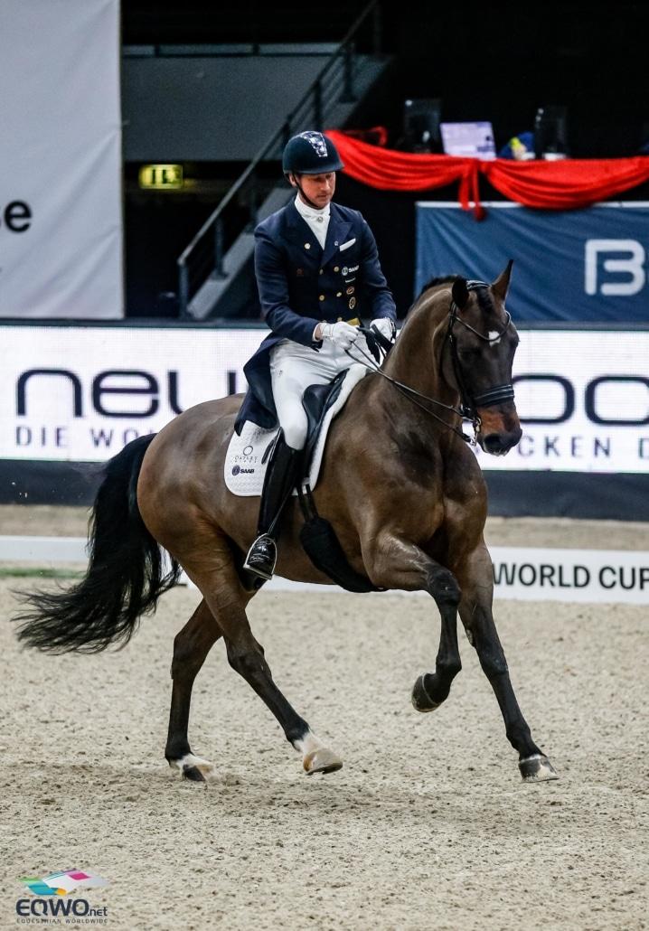 Auf Platz drei (76.087 %) im Weltcup Grand Prix von Salzburg standen Delaunay OLD und Patrik Kittel (SWE). © EQWO.net