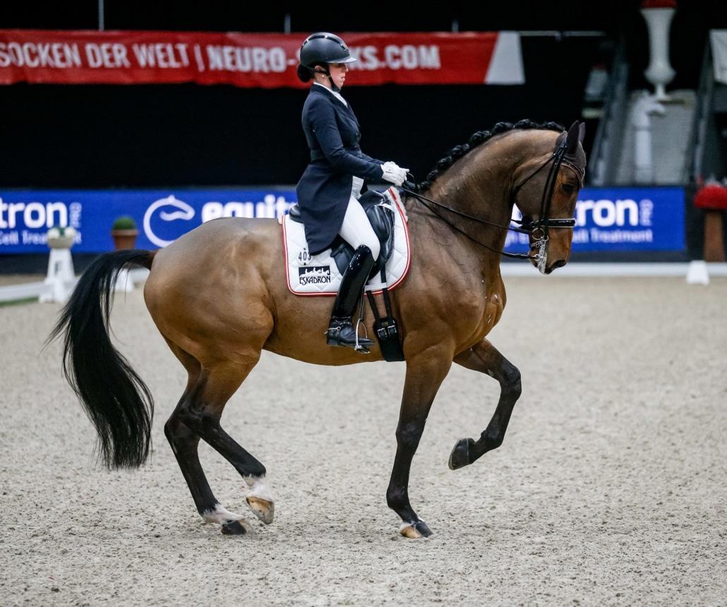 Platz 3 im CDI3* equitron-pro Grand Prix Special für Oberösterreichs Astrid Neumayer. © EQWO.net