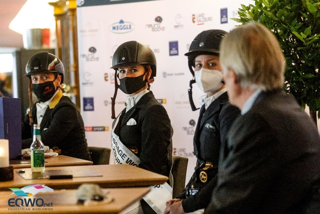 Pressekonferenz im Anschluss an den Weltcup. © EQWO.net
