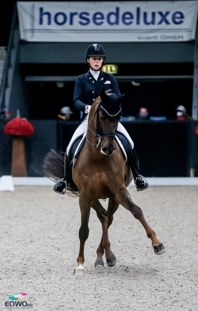 Fiderdance und Lena Waldmann machen mit 73,532 und Platz 2 den Doppelerfolg für Deutschland perfekt. © EQWO.net