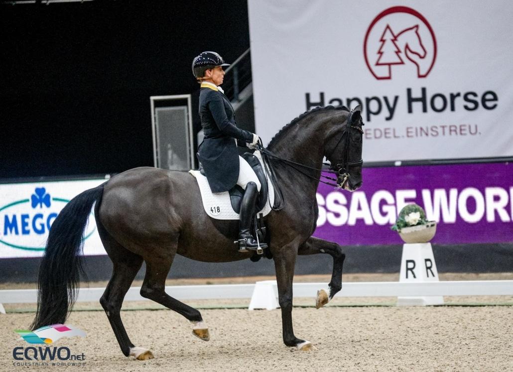 Isabell Werth und Weihegold mussten sich heute im Weltcup von Salzburg mit Platz 2 zufriedengeben. © EQWO.net